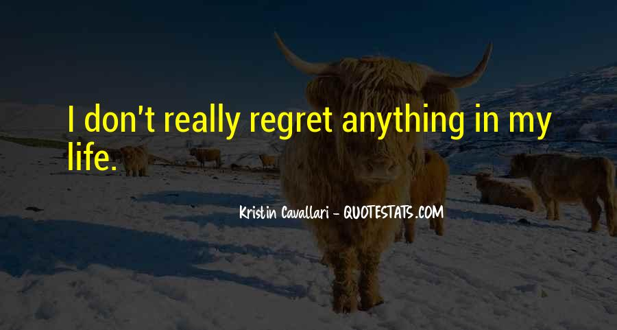 Quotes About I Regret #97025