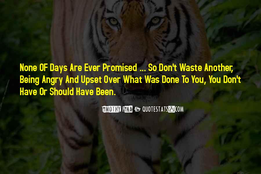Quotes About Being Upset #1221529