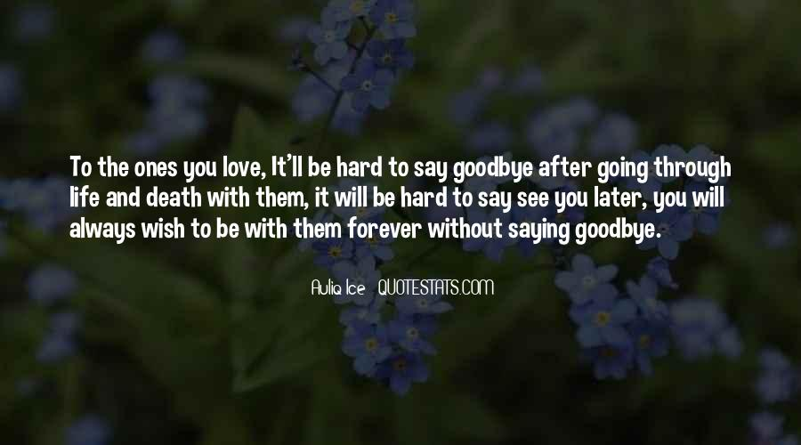 Quotes About It's Hard To Say Goodbye #719943