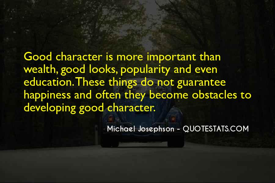 Quotes About Good Character #19967