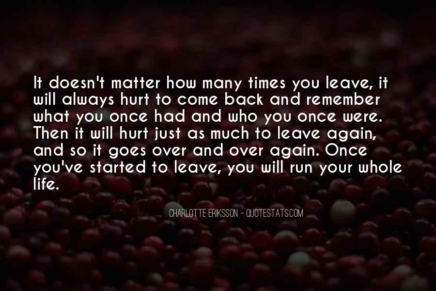 Quotes About Not Going Home Again #88173