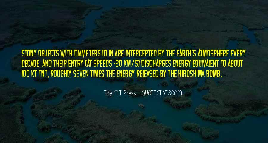 Quotes About Earth's Atmosphere #1562869