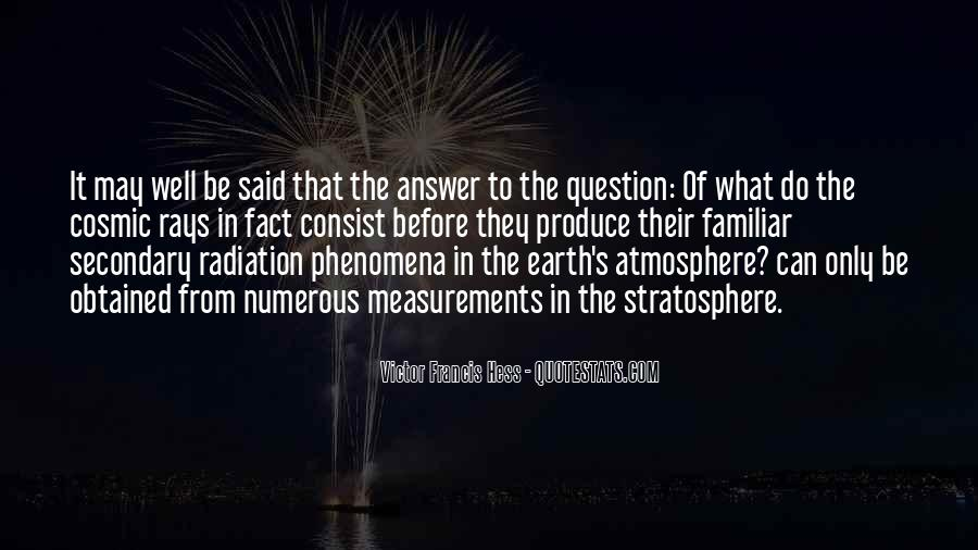 Quotes About Earth's Atmosphere #205946