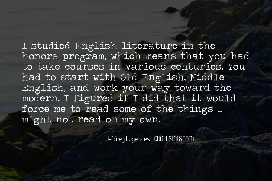 Quotes About English Courses #1169584