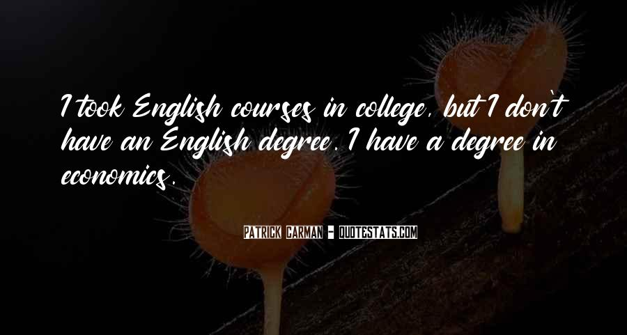 Quotes About English Courses #294190