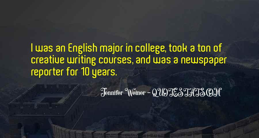 Quotes About English Courses #573307