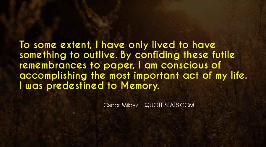 Quotes About Remembrances #136466