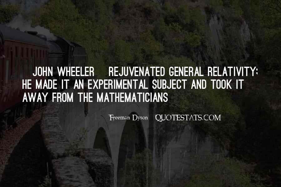 Quotes About General Relativity #1521522