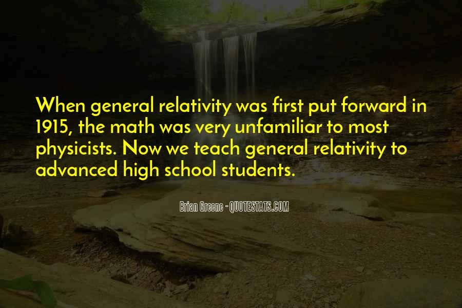 Quotes About General Relativity #1753773