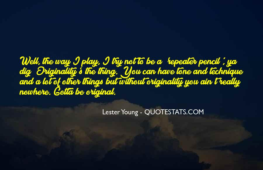 Quotes About Originality In Music #200619