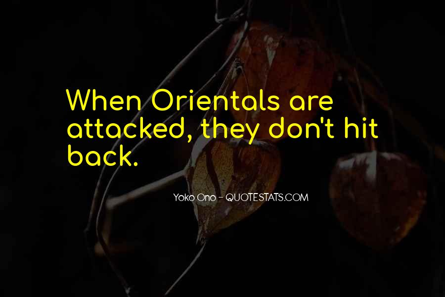 Quotes About Orientals #1207986