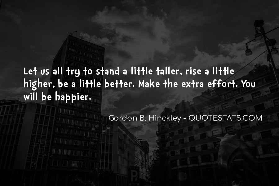 Quotes About Extra Effort #1446212