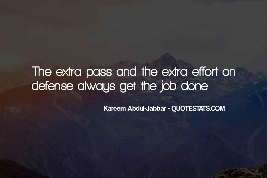 Quotes About Extra Effort #1491924