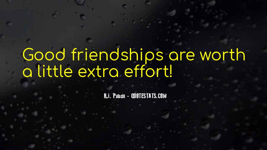 Quotes About Extra Effort #1507353