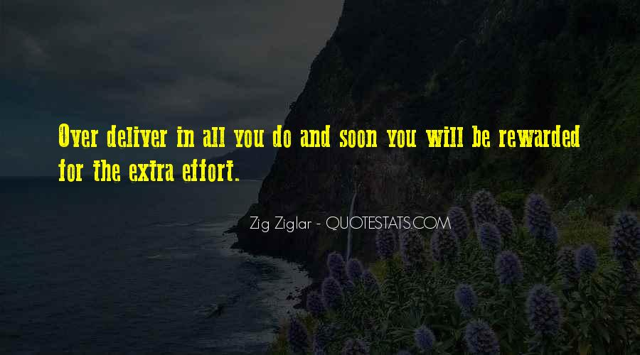 Quotes About Extra Effort #560463