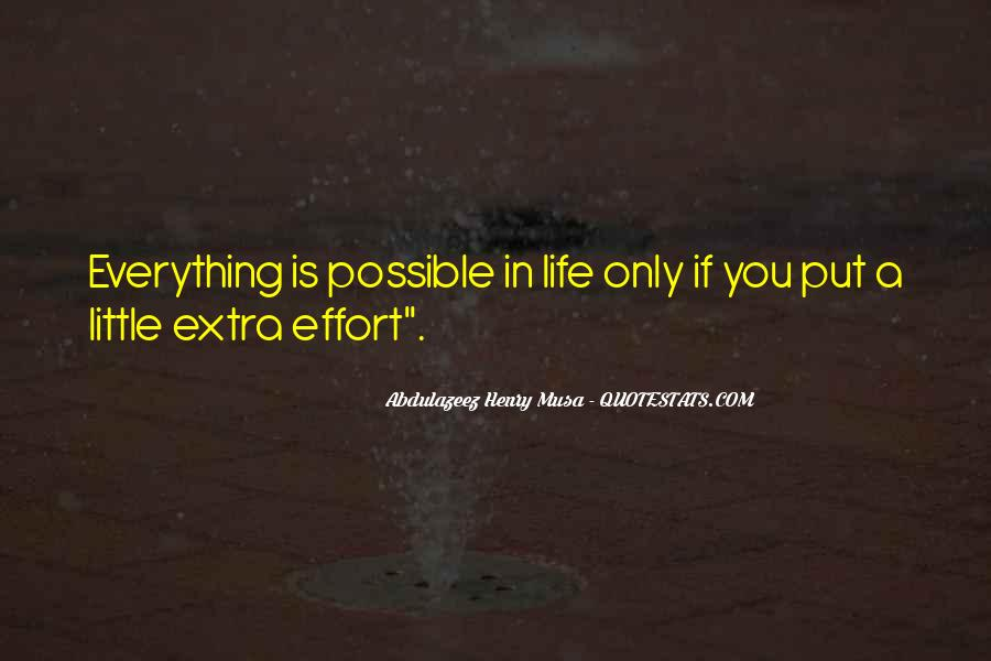 Quotes About Extra Effort #618951