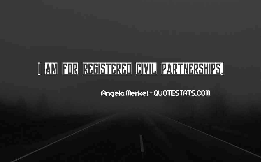 Quotes About Civil Partnerships #1056509