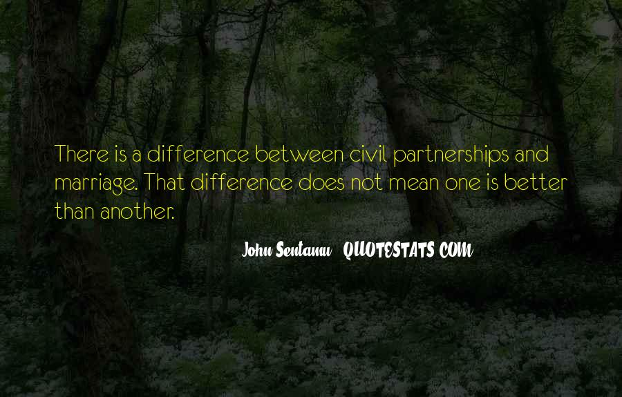 Quotes About Civil Partnerships #1459754