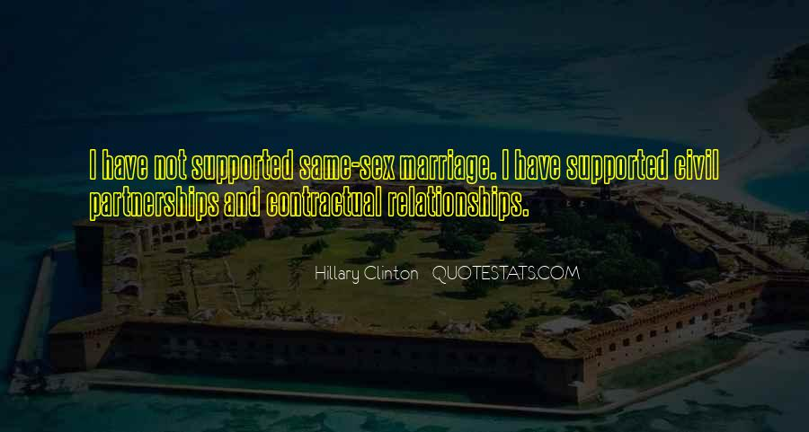 Quotes About Civil Partnerships #1585736