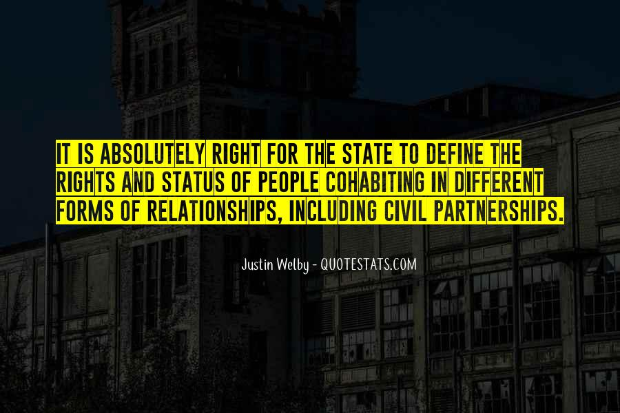Quotes About Civil Partnerships #676702