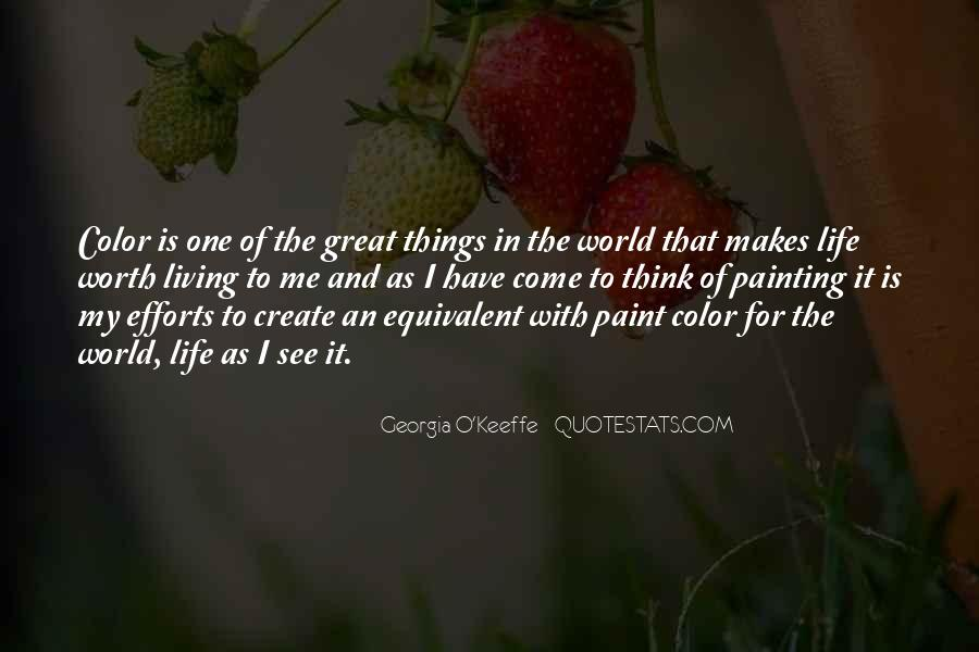Quotes About Painting The World #1395344