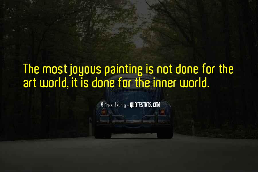 Quotes About Painting The World #244775