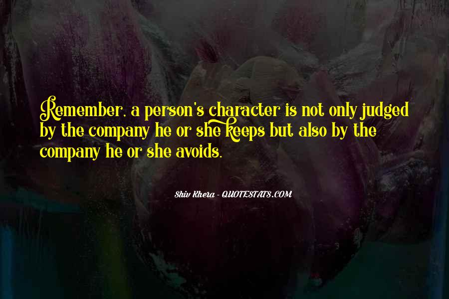 Quotes About A Person's Character #78891