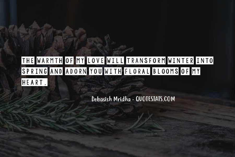 Quotes About Warmth And Love #1200547