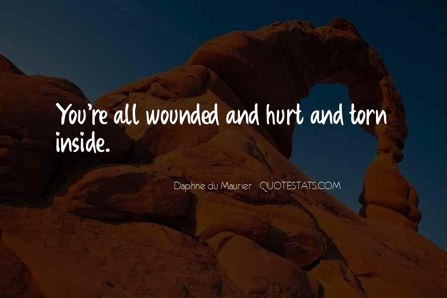 Quotes About Being Hurt On The Inside #205962
