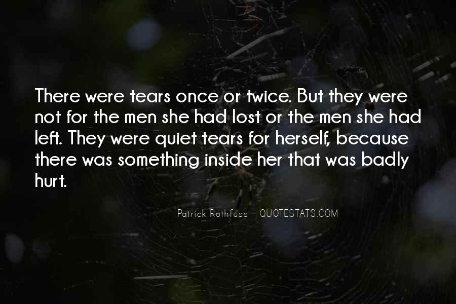 Quotes About Being Hurt On The Inside #506472