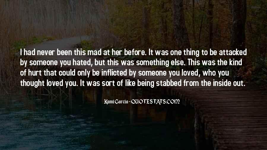 Quotes About Being Hurt On The Inside #865240