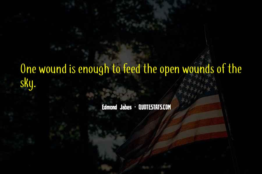 Quotes About Open Wounds #221186