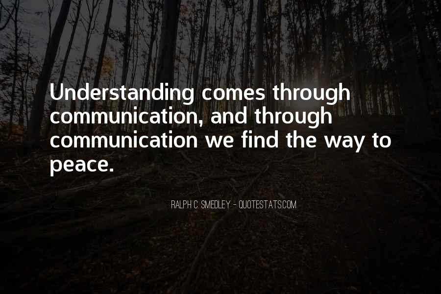 Quotes For Peace And Understanding #274993