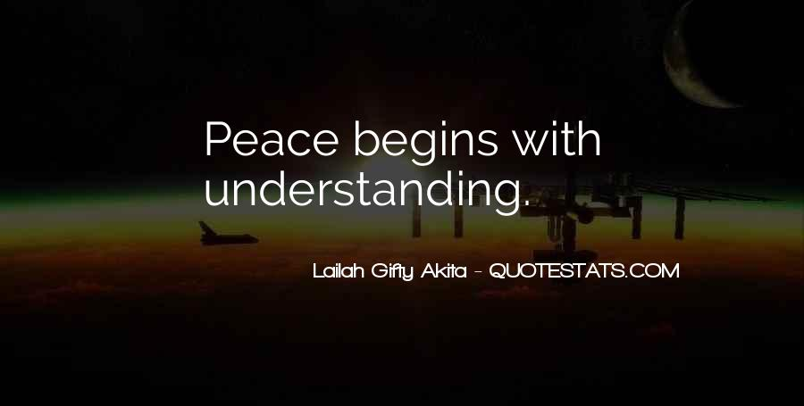 Quotes For Peace And Understanding #724449