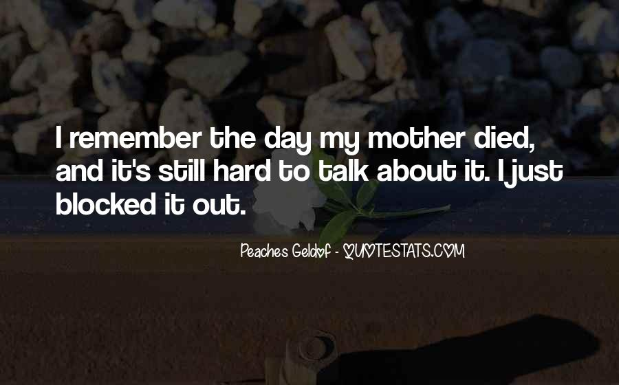 Quotes For Someone Whose Mother Died #17535