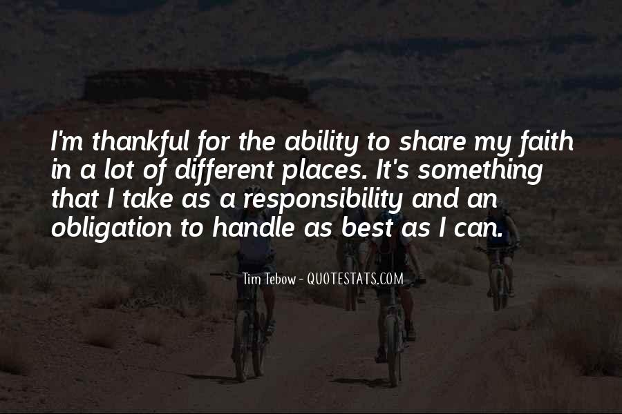 Quotes About Obligation And Responsibility #210143