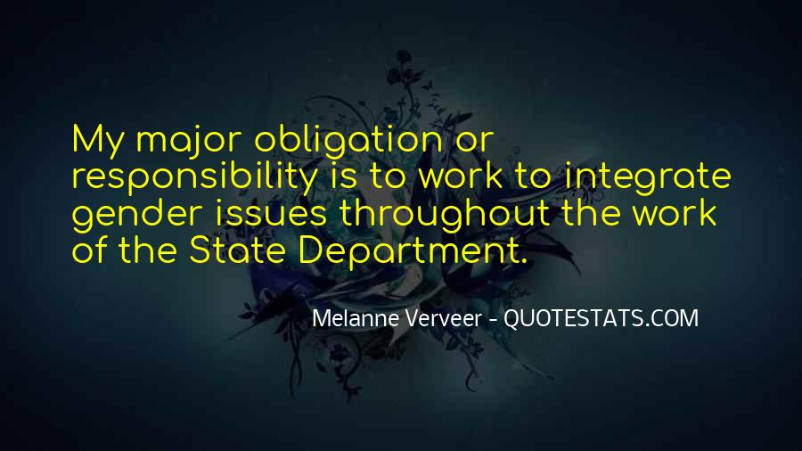 Quotes About Obligation And Responsibility #421826