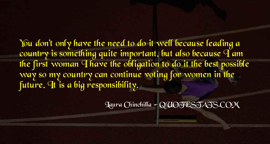 Quotes About Obligation And Responsibility #947790