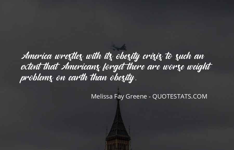 Quotes About Obesity In America #1638689