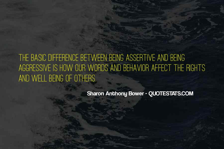 Quotes On Assertive Behavior #1870263
