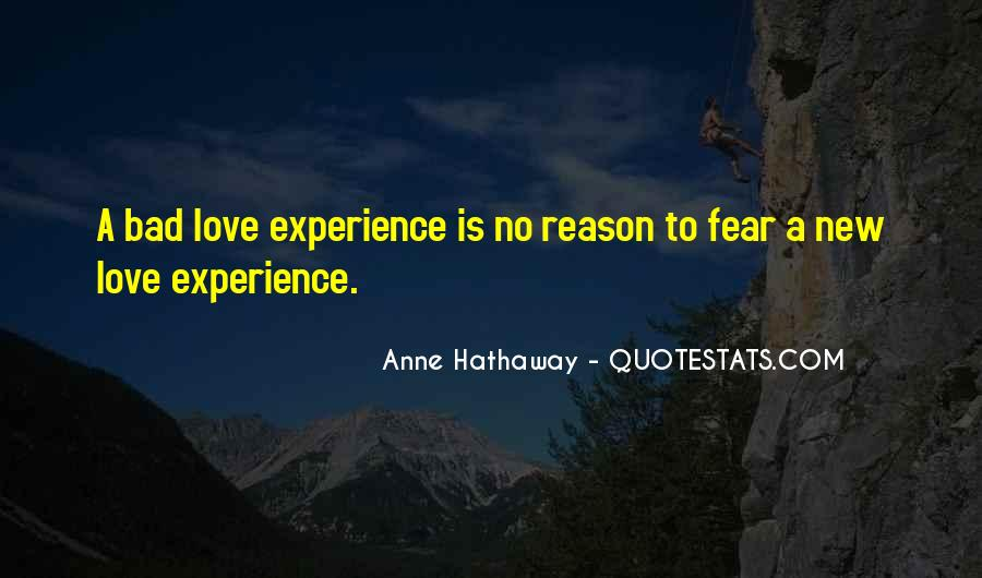 Quotes On Bad Experience In Love #1261317