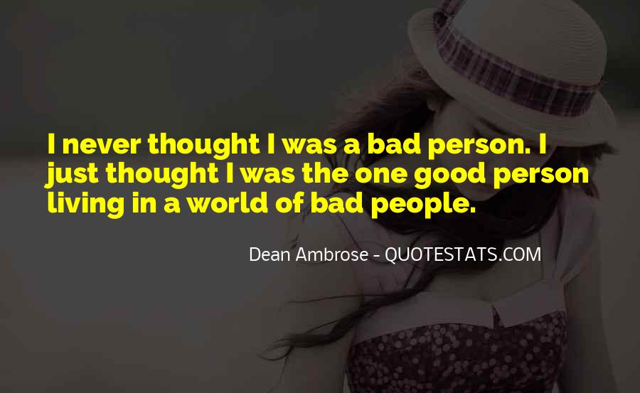 Quotes On Bad Person #211903