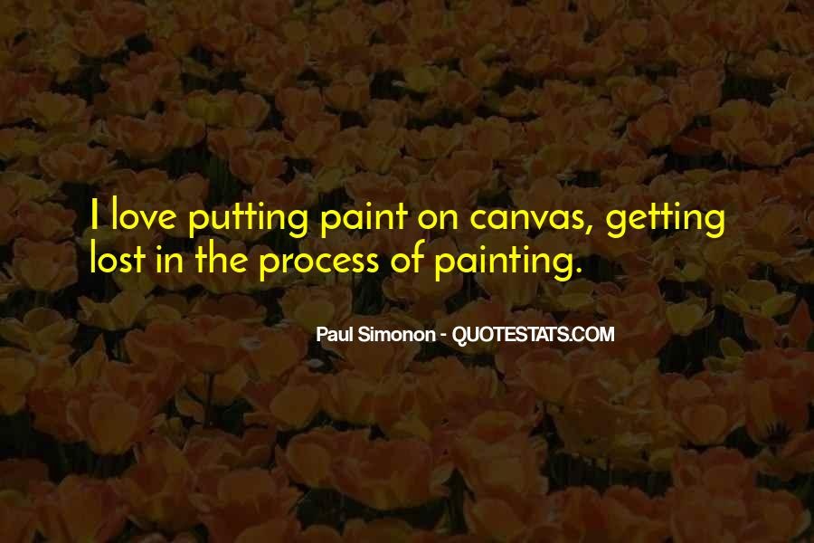 Top 80 Quotes On Canvas Painting Famous Sayings About