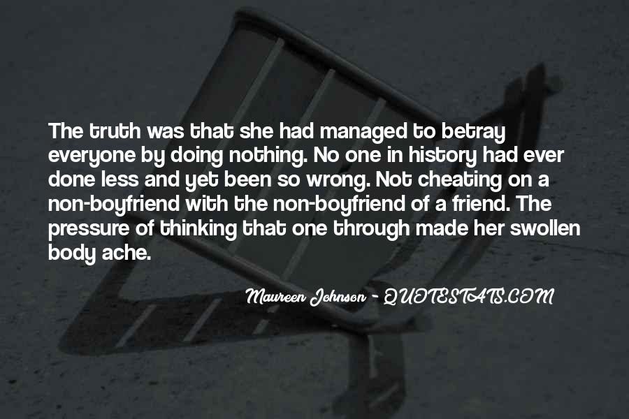 Quotes On Cheating Friend #1260829