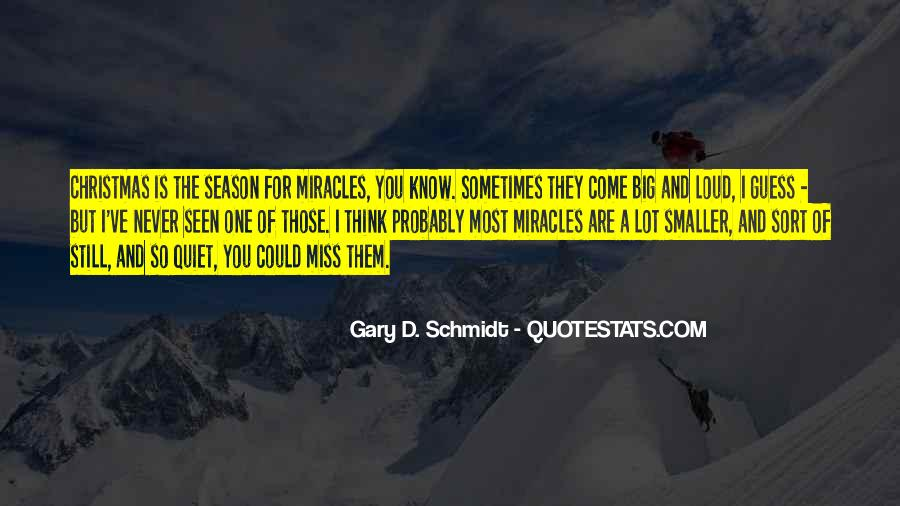 Quotes On Christmas Miracles #1878565