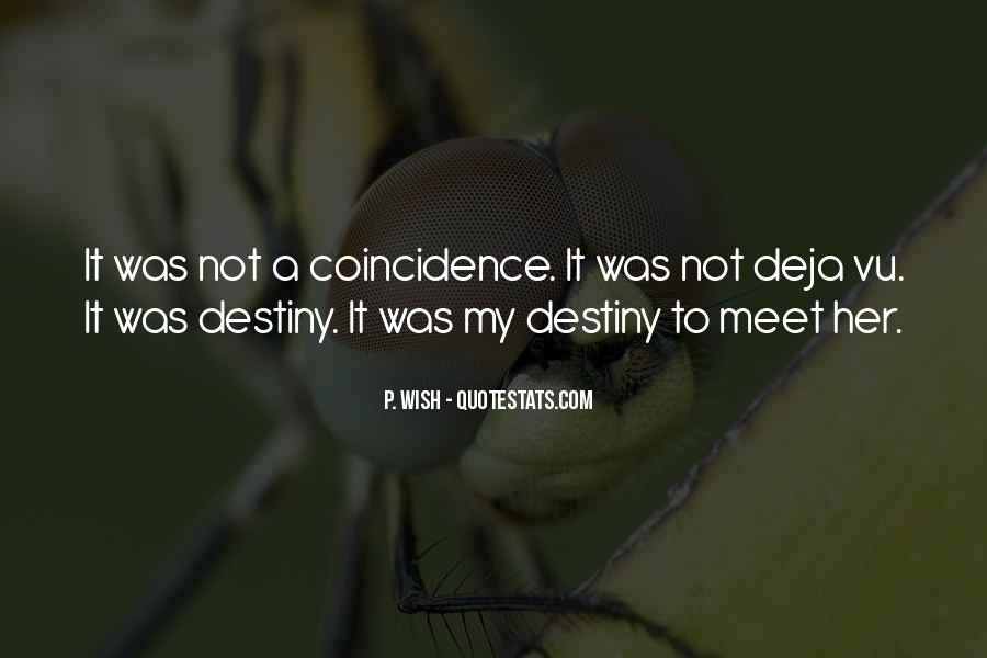 Quotes On Destiny And Coincidence #1765306