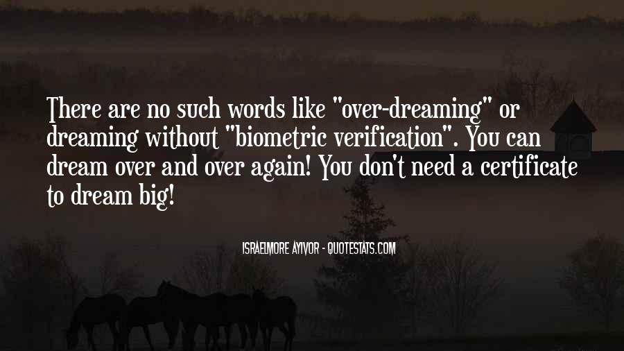 Quotes On Dreaming Again #1188145
