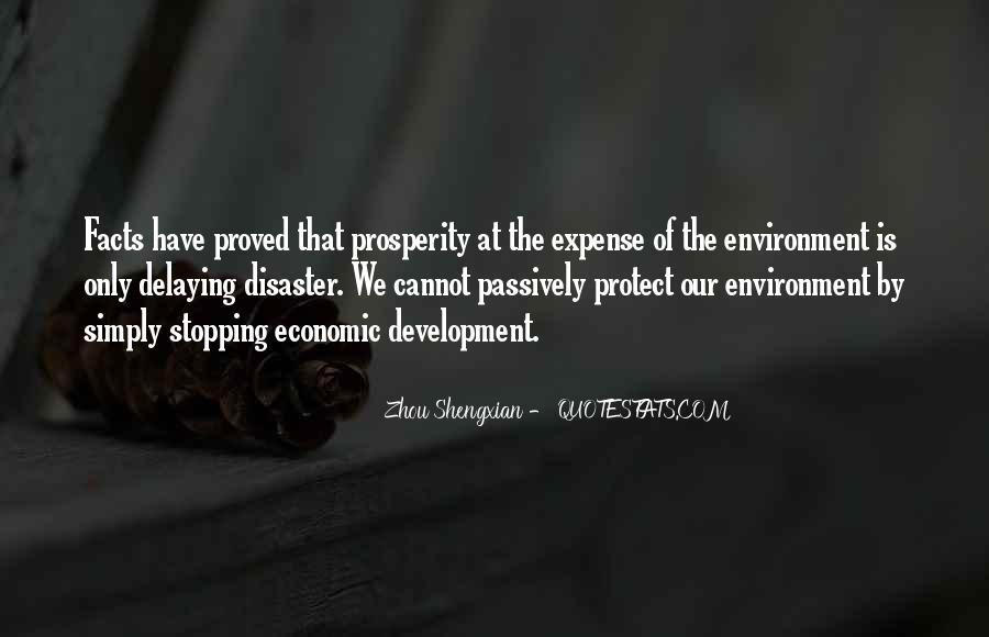 Quotes On Economic Development And Environment #1295104