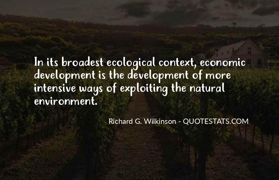 Quotes On Economic Development And Environment #60352