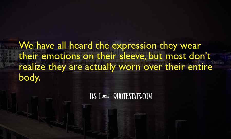 Quotes On Emotions Expression #1134752